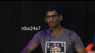 Actor Vishal tears into H Raja for watching Mersal on Internet | nba 24x7