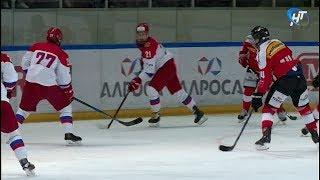 Россия и Швейцария встретились на льду в рамках хоккейного «Турнира четырех наций»