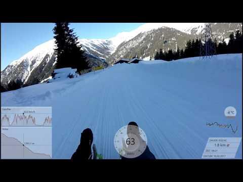 Rodeln am Rinerhorn in Davos 16.02.2017