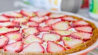 Healthy Frozen Dessert Recipe   Strawberry Icebox Pie