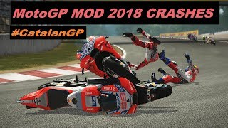 MotoGP 2018 Mod | Crash Compilation | PC GAMEPLAY | TV REPLAY MotoGP