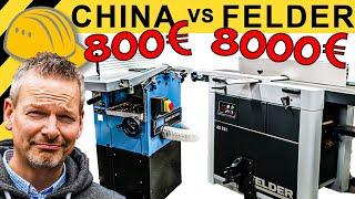 800€ CHINA HOBEL vs 8000€ PROFI MASCHINE? GÜDE HOBELMASCHINE TEST   WERKZEUG NEWS #49