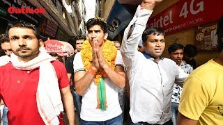 Boxer And Congress Candidate Vijender Singh Campaigns In South Delhi
