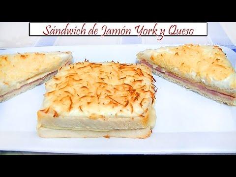 Sándwich de Jamón York y Queso | Receta de Cocina en Familia