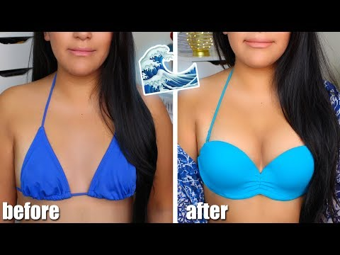 "HOW I MAKE MY ""A"" CUPS LOOK BIGGER IN A SWIMSUIT! (W/ Upbra)"