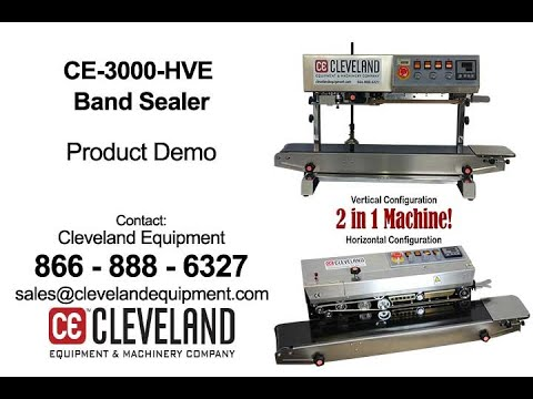 CE-3000-HVE Continuous Band Sealer CE-3000-HVE Continuous Band Sealer