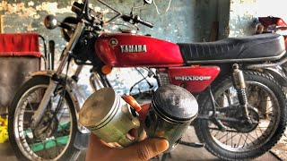 YAMAHA RX100 NEW PISTON 50 NUMBER | ENGINE BORING WORK
