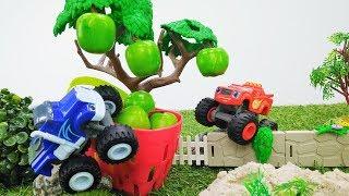 Мультики про машинки. Тачки Вспыш и Крушила собирают урожай.
