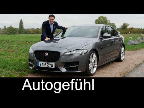 Jaguar XF FULL REVIEW test driven R-Sport 2.0d 2nd generation MY2016 all-new neuer