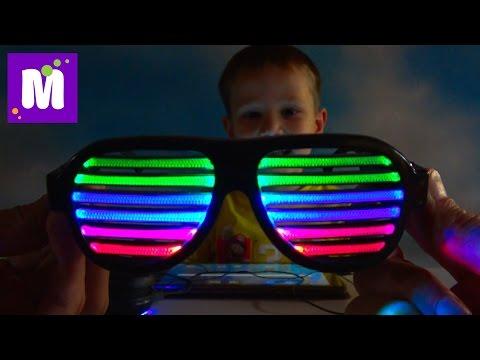 Радио приемник DIY и очки с чувствительнымы LED полосками Собираем сами