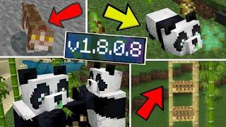 ВЫШЕЛ НОВЫЙ Minecraft PE 1.8.0.8 | ПАНДЫ, БАМБУК, НОВЫЕ КОШКИ, БАМБУКОВАЯ ЛЕСТНИЦА | СКАЧАТЬ!