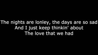 Nobody Knows - Tony Rich Project - Lyrics on Screen