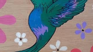 Dibujo sobre madera con Aquarelo Glass | tips de pintado sobre madera | aprende a dibujar en madera