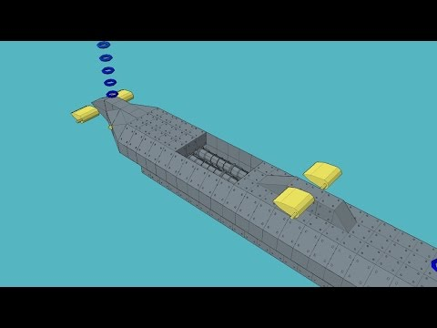 Warship Craft Submarine Controlled By Dive Plaines