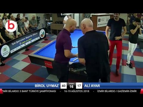 BİROL UYMAZ & ALİ AYAR Bilardo Maçı - İZMİR BİLARDO 3 BANT TÜRKİYE ŞAMPİYONASI-Final