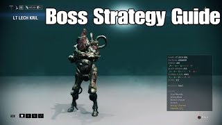 Lt Lech Krill Boss Strategy Guide (Warframe)