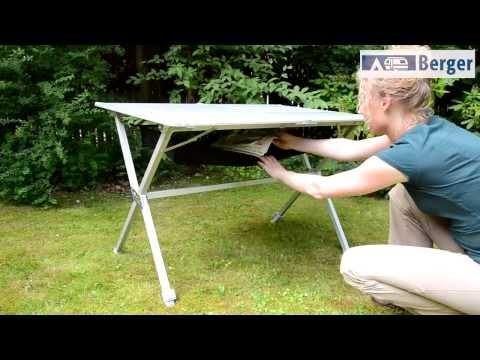 Camping Alu-Rolltisch