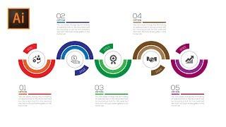 Stock Vector   Business Timeline Infographic Design  Illustrator Cc Tutorial