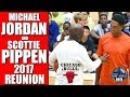 MICHAEL JORDAN SCOTTIE PIPPEN 2017 REUNION Michael Jordan Flight School Chicago Bulls Highlights