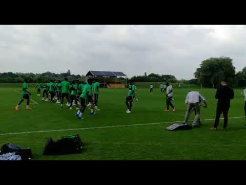 WATCH: Super Eagles Train For England Friendly