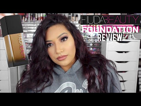 NEW Huda Beauty #FauxFilter Foundation Brown Sugar First Impressions Full Day Wear