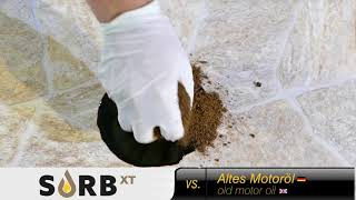 SORB XT vs. old motor oil