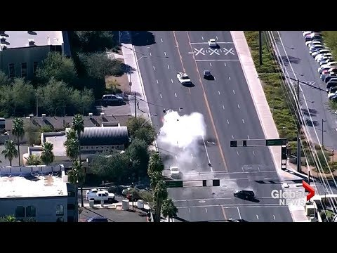 High Speed Police Pursuit Culminates With Violent, Head-on Crash In Arizona