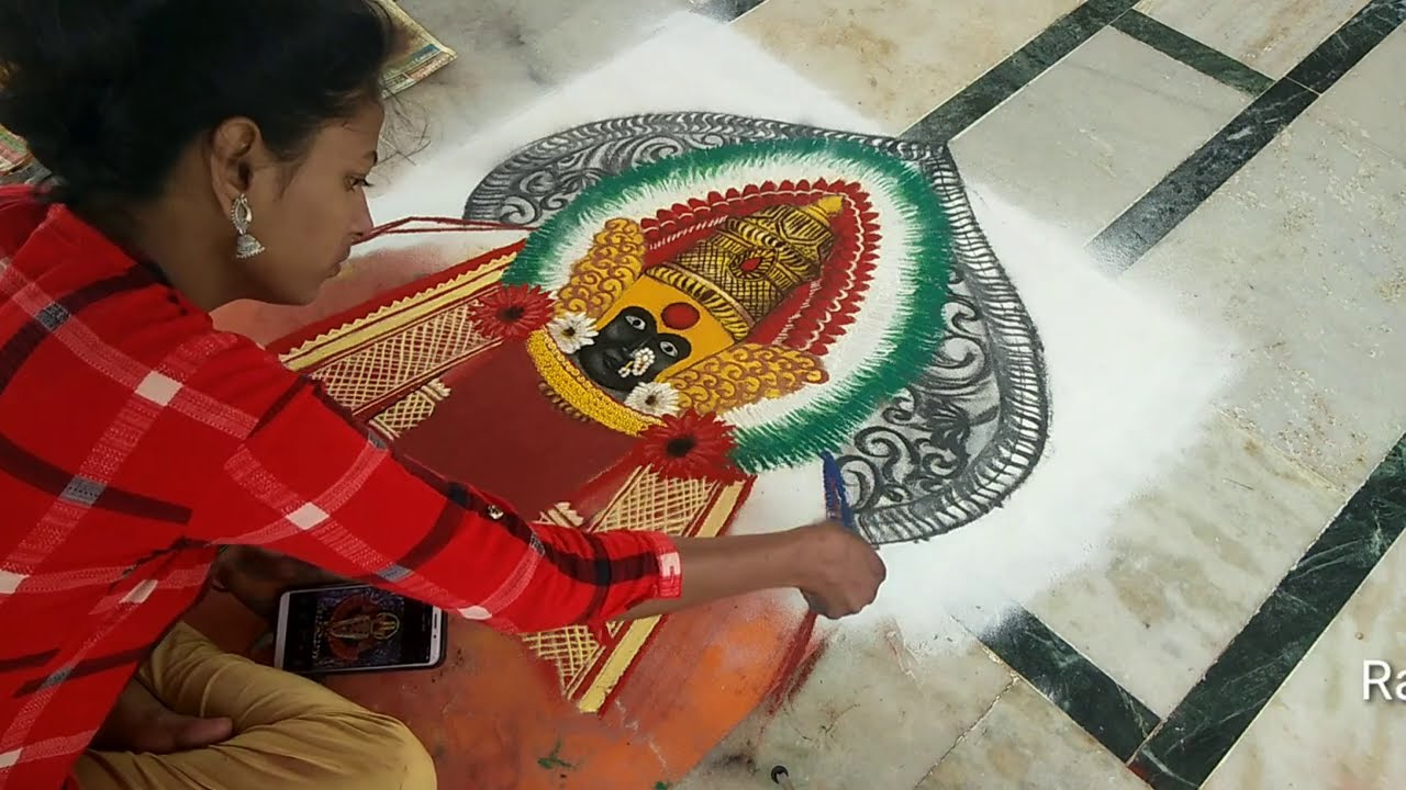 portrait rangoli design mahalakshmi goddess by rajashri junnarkar