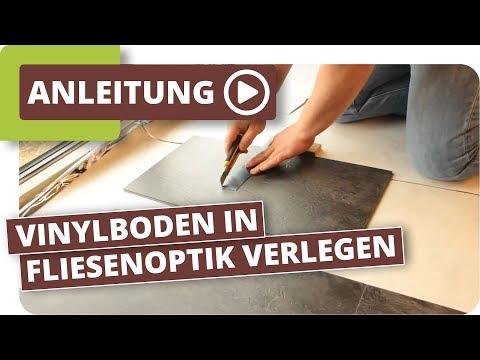 Vinylboden in Fliesenoptik verlegen, Parkett Wohnwelt erklärt wie es funktioniert
