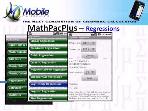 Video of MathPac+ Graphing Calculator