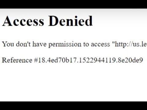 Error: You don't have permission to access