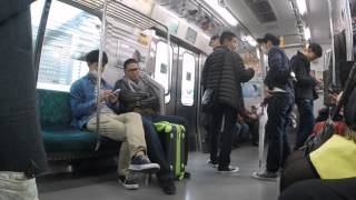2015-04-11 On the train, Tokyo