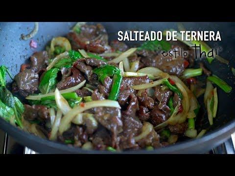 Salteado Thai de ternera con albahaca - Beef With Thai Holy Basil Stir Fry