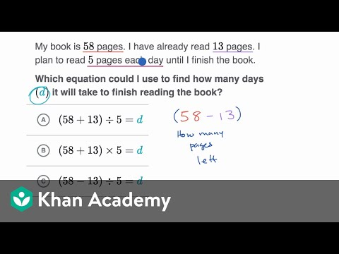 Setting up 2-step word problems (video) | Khan Academy
