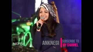 Anushka Sharma singing Bedu Pako in NDTV jai jawan for garhwal rifles