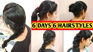 6 DAYS 6 HAIRSTYLES FOR SCHOOLS,COLLEGES,AND WORK