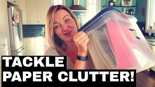 How I Dealt with Years of Paper Clutter!!