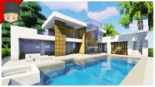 How To Build A Modern House In Minecraft Minecraft House Tutorial