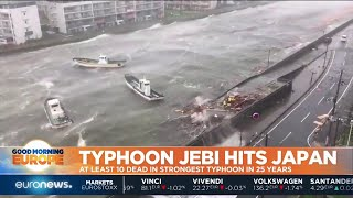 Typhoon Jebi hits Japan