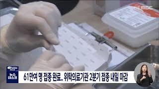 61만여 명 완료..위탁의료기관 2분기 접종 내일 마감