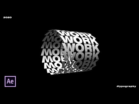 typography spin effect animation by nikhil