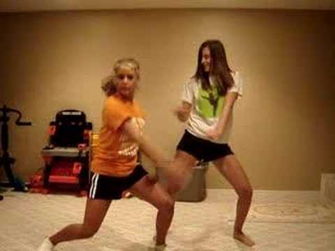 two girls dancing crazy