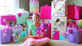 Leahs 9th Birthday Opening Presents!!
