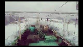 Kapal Cumi Diterjang Badai Besar, Balik Dari Argentin