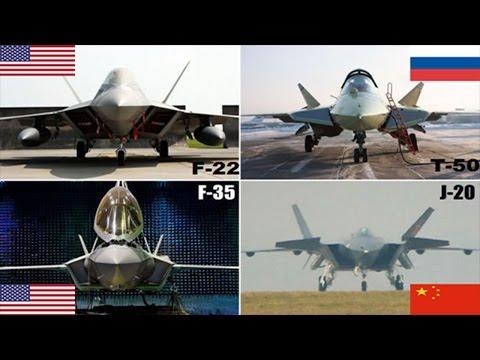 5th Gen Jet stealth Fighters : Pak-Fa, F-35 , F-22 Raptor