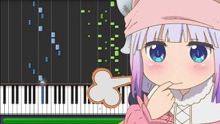Aozora no Rhapsody - Kobayashi-san Chi no Maid Dragon [小林さんちのメイドラゴン] OP (Piano Synthesia)