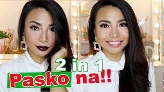 2 in 1 GLOWING Look For CHRISTMAS!! Make Up (Affordable)