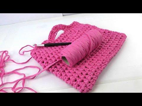 Handtasche häkeln - Häkelanleitung Tasche deutsch - crochet bag tutorial - pink