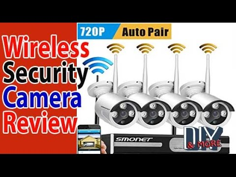 4 Channels WIRELESS SECURITY CAMERA SYSTEM SMONET 720p