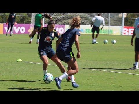 Rumo à Copa! Seleção feminina de futebol encerra treinamento na Granja Comary